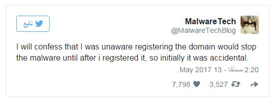 @MalwareTech about wanna cry virus stopped