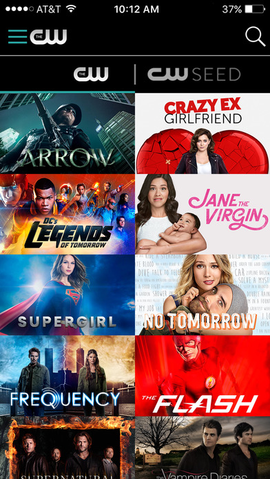 The CW Network app 16
