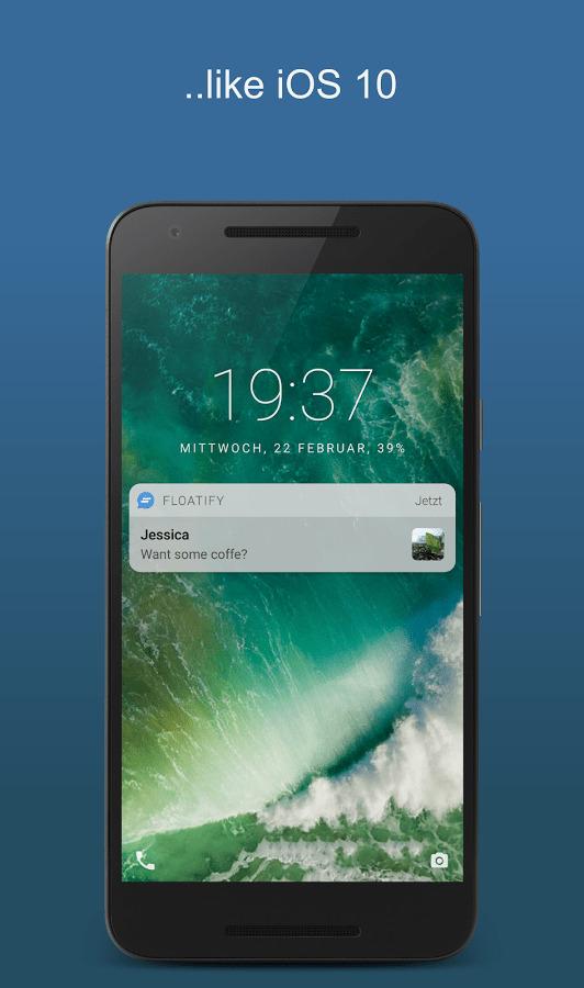 تطبيق Floatify Lockscreen