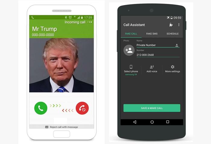 تطبيق تجسس Fake Call