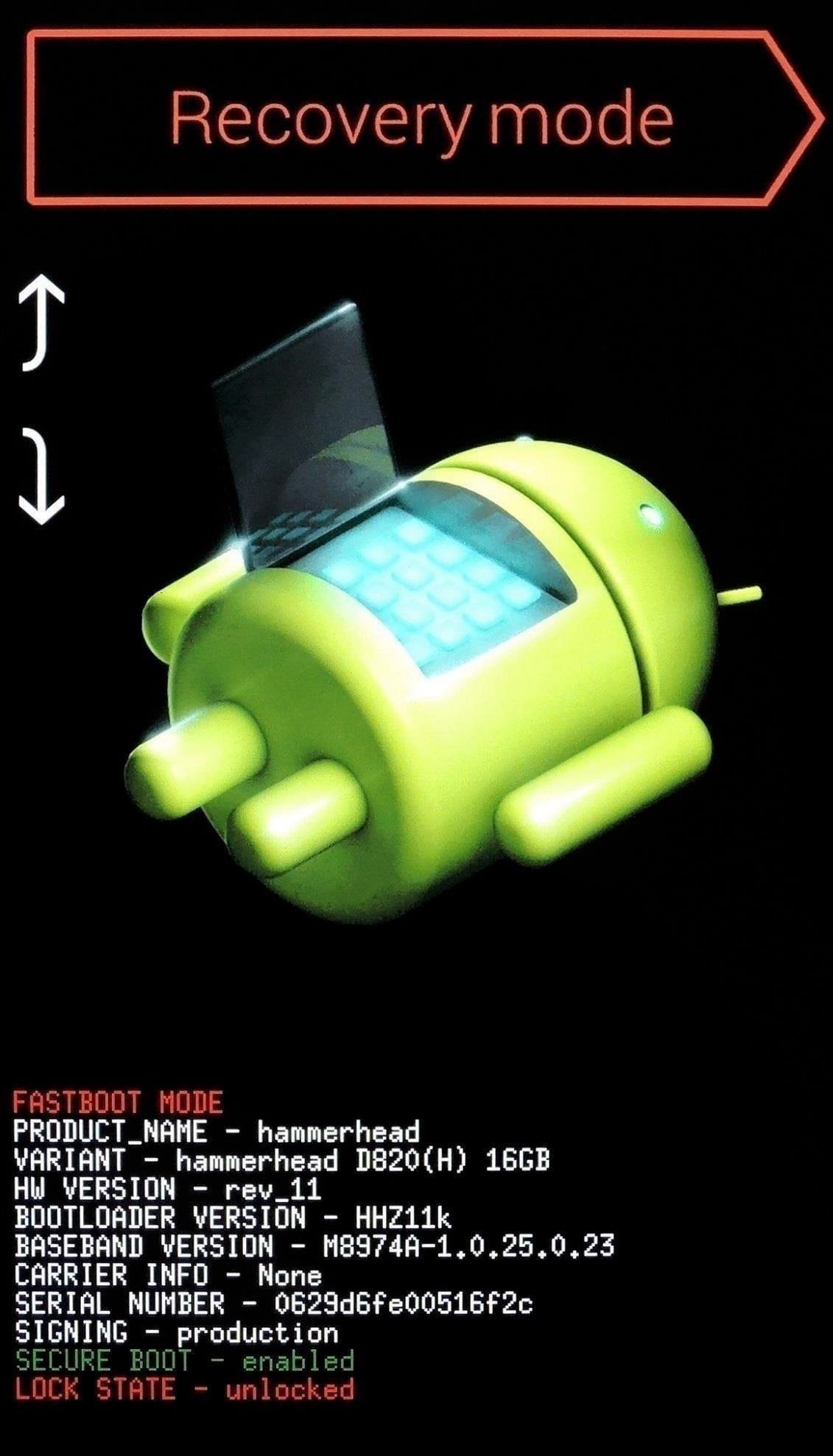 Reset lock screen password by Performing Factory Reset Mohamedovic 02