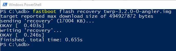 Install TWRP Recovery on Android Devices using Fastboot 2