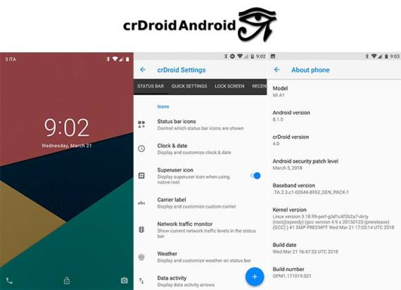 crDroid Based Android Oreo ROM for Mi A1 Mohamedovic 03
