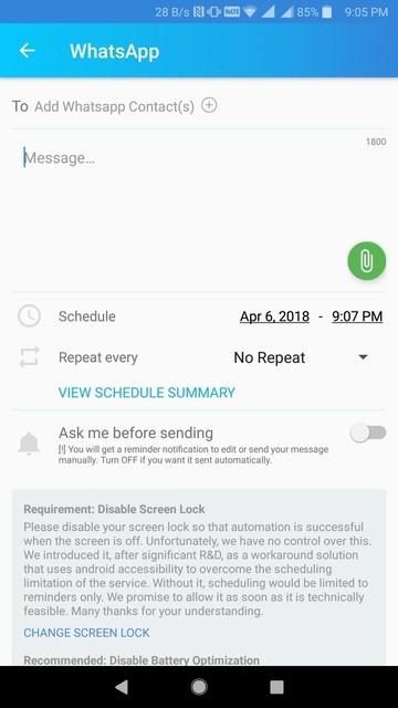 كيفية جدولة منشورات Facebook | رسائل WhatsApp, SMS | المكالمات 4