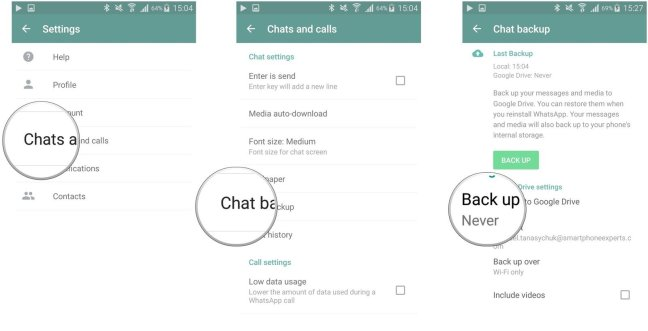 Backup WhatsApp Messeges Mohamedovic