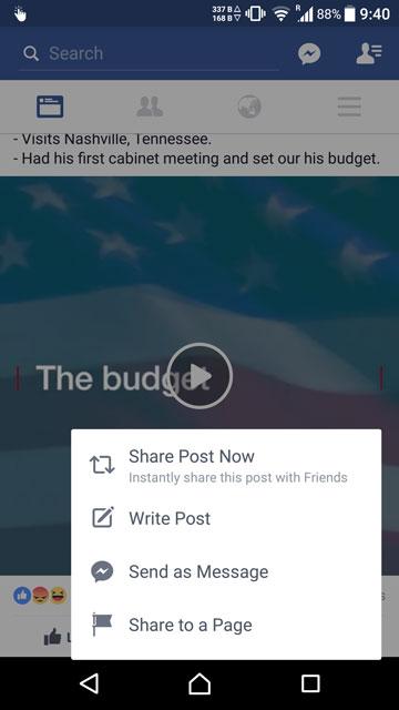 تطبيق Facebook الرسمي