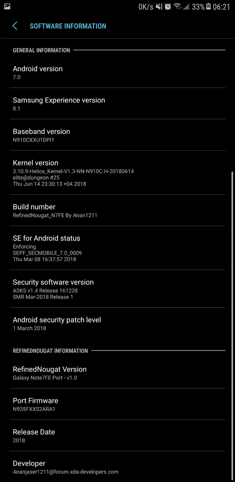 Refined Nougat 7.0 ROM Note 7 FE Port for Galaxy Note 4 Mohamedovic 10