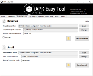 Decompile APK Files using APK Easy Tool Mohamedovic 03