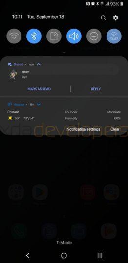 الإعدادات السريعة الجديدة بتحديث اندرويد 9.0
