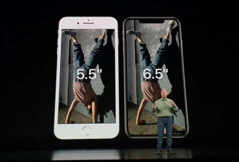 الإختلاف بين iPhone XS Max وهاتف iPhone 8 Plus في قياسات الشاشة