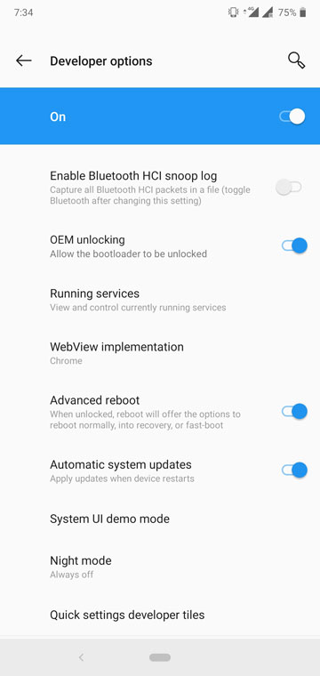 OnePlus 6T Advanced Reboot