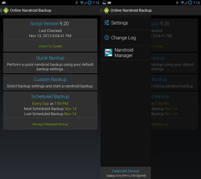 Save a Full Backup via Online Nandroid Backup app Mohamedovic