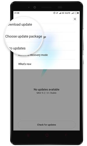 Select Update package via MIUI Updater app 02