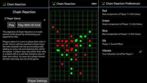 لعبة Chain Reaction