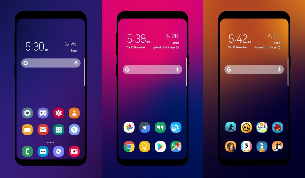 تطبيق One UX Icon Pack: أيقونات مُقتبسة من Samsung One UI 1.0