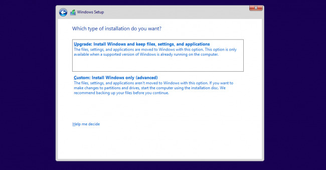 Windows 10 installation explanation