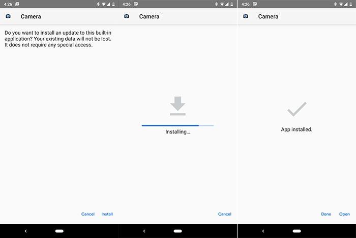 تثبيت تطبيق جوجل بيكسل 3 كاميرا على الاندرويد