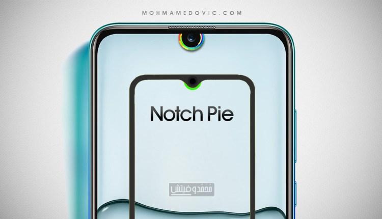 تطبيق نوتش باي لوضع مؤشر البطارية حول الكاميرا