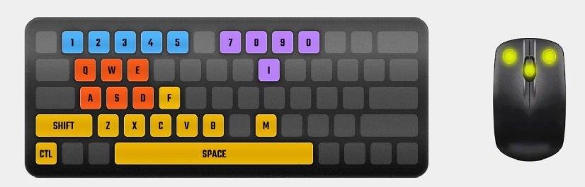شرج التحكم في لعبة ببجي لايت على الكمبيوتر