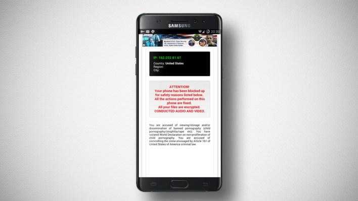 برمجيات Ransomware الخبيثة على الهواتف الذكية
