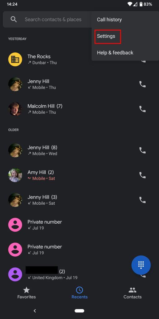 طريقة حظر رقم أو مكالمة على نظام اندرويد الخام Android One