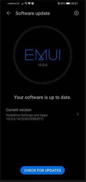 تحديث EMUI 10 هواوي بي 30 لايت