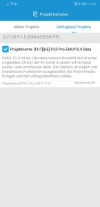 P20 Pro Beta Start EMUI 10