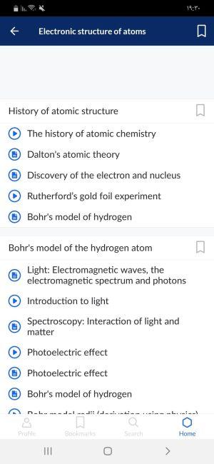 البنية الإلكترونية للذرة