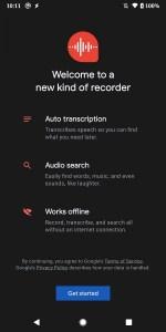 تطبيق مسجل الصوت من جوجل