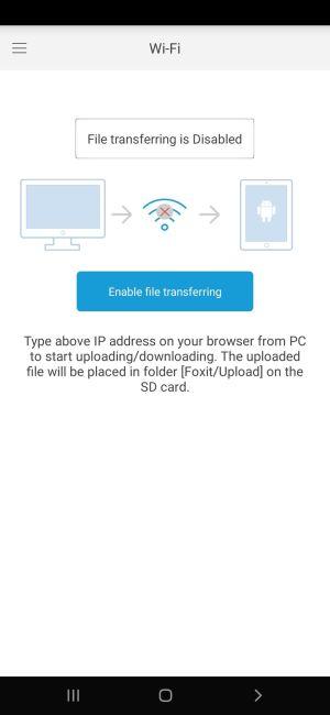 Wi-Fi في فوكست ريدر موبايل