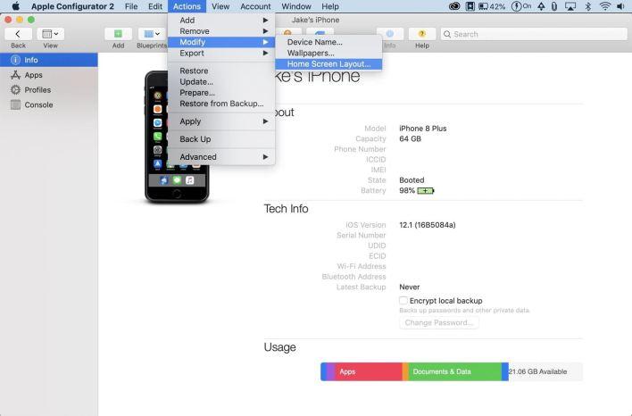 استخدم Apple Configurator لتنظيم شاشتك الرئيسية