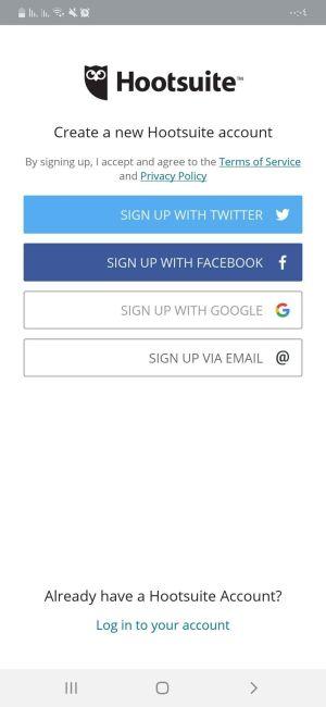 التسجيل في تطبيق Hootsuite أحد تطبيقات الانستقرام