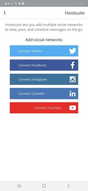 إضافة المنصات الإجتماعية في تطبيق Hootsuite