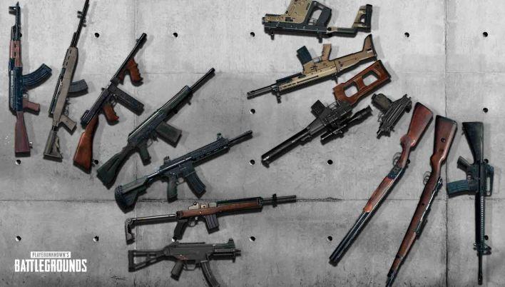أسلحة لعبة ببجي على الكمبيوتر