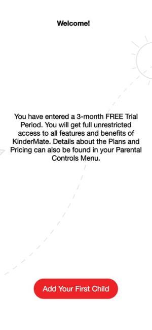 رسالة ترحيبية في تطبيق كيندر مات أحد بدائل اليوتيوب للاطفال