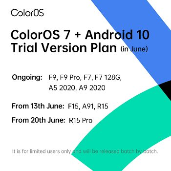 تحديثات ColorOS 7 لشهر يونيو 2020