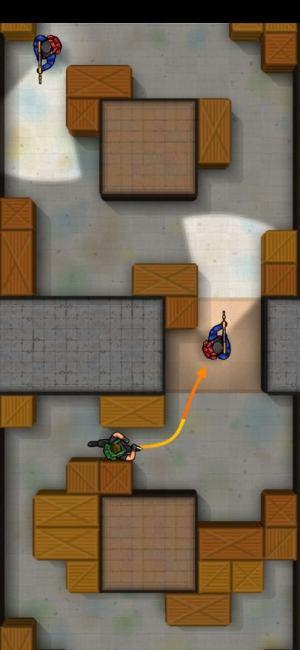 السهم المحدد في لعبة لعبة Hunter Assassin