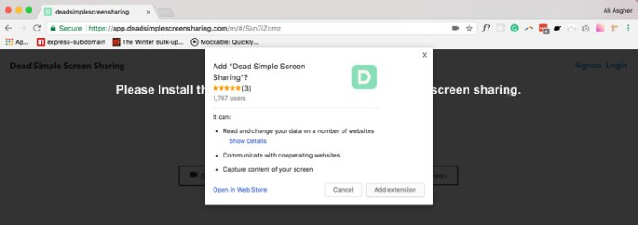 إضافة الإكستنشن لمتصفح جوجل كروم
