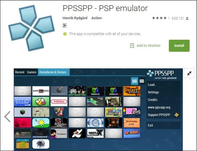 تحميل برنامج ppsspp على هاتفك الذكي الذي يعمل بنظام الاندرويد