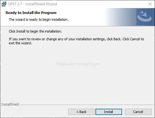 خطوات تثبيت أداة QPST على الكمبيوتر