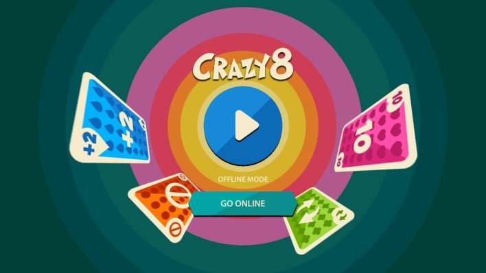 الصفحة الرئيسية في لعبة crazy 8 multiplayer