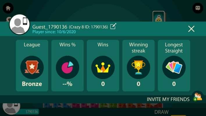 حسابك في لعبة crazy 8 multiplayer