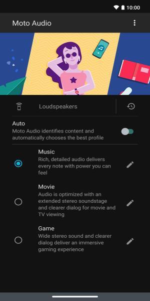 تطبيق Moto Audio أحد برامج موتورولا