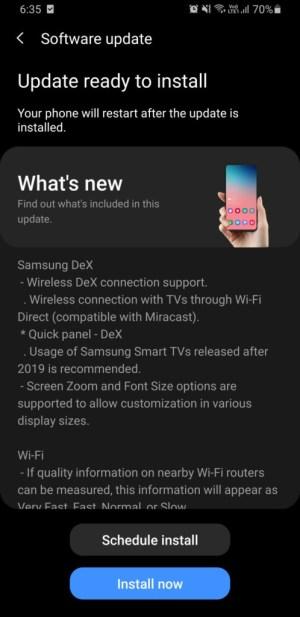 تحديث One UI 2.5 لهواتف S9 Note 9