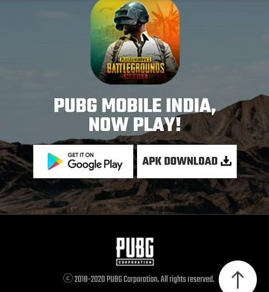 A link to download PUBG Mobile Indian version APK appears