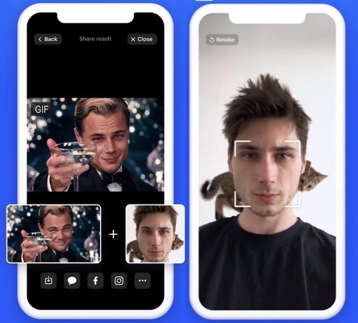 صورة بعد تبديل الوجه في تطبيق Reface