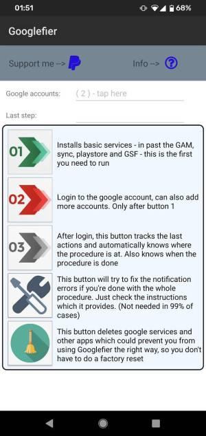 Googlefier install GMS Huawei Honor 5
