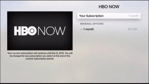 معلومات اشتراكك في HBO NOW