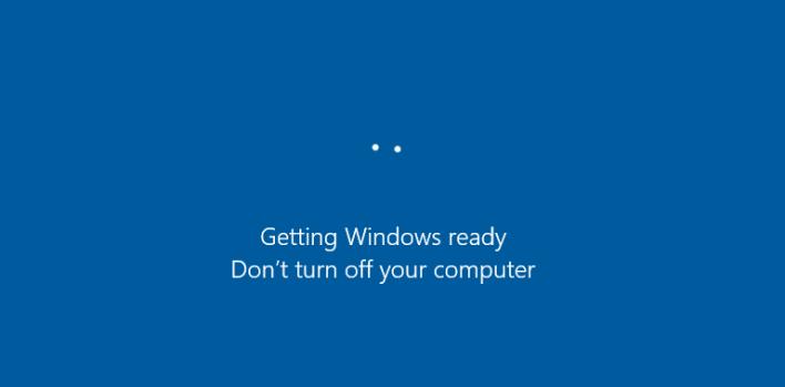 رسالة Getting Windows Ready