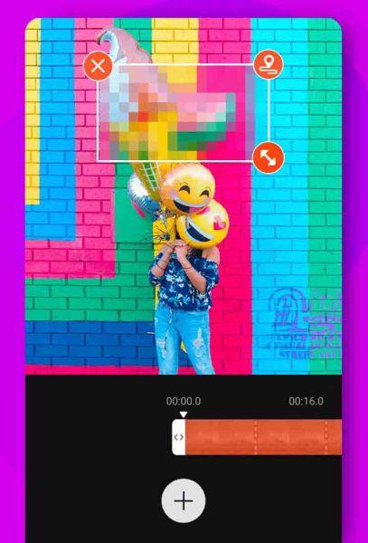 تأثير الفسيفساء في تطبيق فيديو شو اندرويد